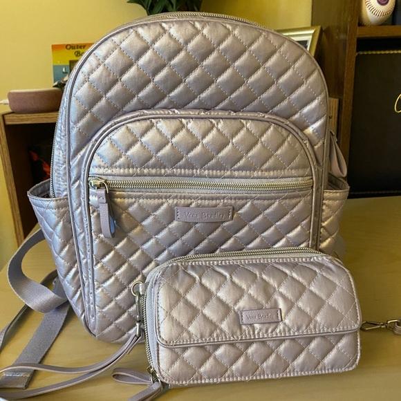 Vera Bradley purse backpack with wristlet